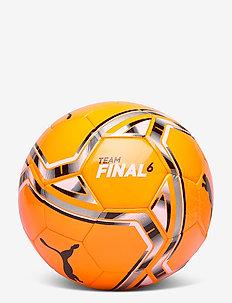 teamFINAL 21.6 MS Ball - jalkapallkovarusteet - shocking orange-puma black-puma whi