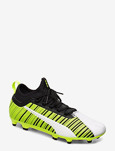 PUMA ONE 5.3 FG/AG - fotballsko - puma white-puma black-yellow alert