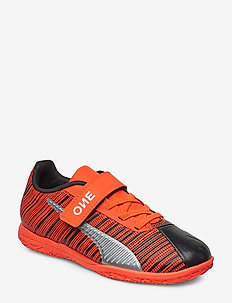 PUMA ONE 5.4 IT V Jr - PUMA BLACK-NRGY RED-PUMA AGED SILVER