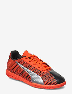 PUMA ONE 5.4 IT Jr - buty piłkarskie - puma black-nrgy red-puma aged silver