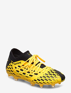 FUTURE 5.3 NETFIT FG/AG Jr - buty piłkarskie - ultra yellow-puma black