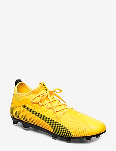 PUMA ONE 20.2 FG/AG - fodboldsko - ultra yellow-puma black-orange aler