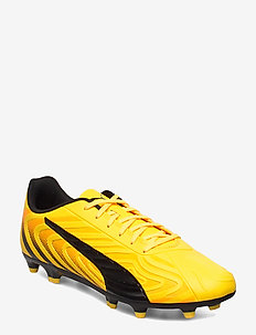 PUMA ONE 20.4 FG/AG - football shoes - ultra yellow-puma black-orange aler