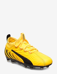 PUMA ONE 20.3 FG/AG Jr - buty piłkarskie - ultra yellow-puma black-orange aler