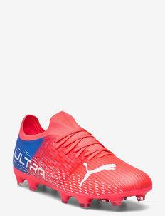 ULTRA 3.3 FG/AG - buty piłkarskie - sunblaze-puma white-bluemazing