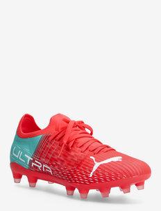 ULTRA 3.3 FG Wn's - football boots - sunblaze-puma white-elektro aqua
