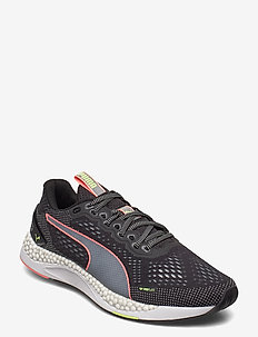 SPEED 600 2 - running shoes - puma black-fizzy yellow-nrgy peach