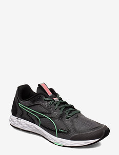 SPEED 300 RACER 2 Wn's - running shoes - puma black-green glimmer-puma white