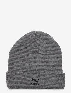 ARCHIVE mid fit beanie - mössor - medium gray heather-black logo
