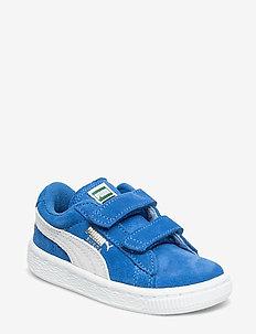 Suede 2 straps Inf - SNORKEL BLUE-WHITE