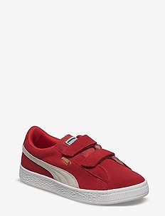 Suede 2 straps PS - HIGH RISK RED-PUMA WHITE