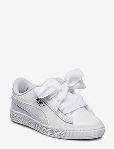 Basket Heart Patent PS - sneakers - puma white-puma white