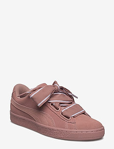 Suede Heart Satin II Wn's - low top sneakers - cameo brown-cameo brown