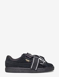 Suede Heart Satin II Wn's - låga sneakers - puma black-puma black