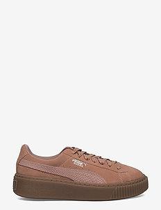 Suede Platform Animal - low top sneakers - cameo brown-silver