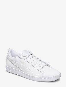 Puma Smash Wns v2 L - matalavartiset tennarit - puma white-puma white