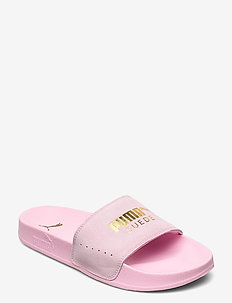 Leadcat Suede - pool sliders - pale pink-puma team gold