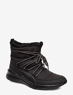 Adela Winter Boot - platte enkellaarsjes - puma black-bridal rose