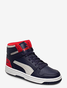 Puma Rebound Layup SL Jr - high tops - peacoat-gray violet-high risk red-p