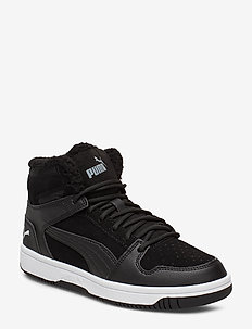Puma Rebound Layup Fur SD Jr - PUMA BLACK-PUMA WHITE