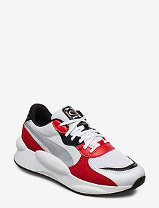 RS 9.8 Space Jr - PUMA WHITE-HIGH RISK RED