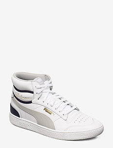 Ralph Sampson Mid - baskets montantes - puma white-gray violet-peacoat