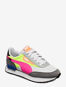 RIDER PLAY ON - PUMA WHITE-CASTLEROCK-YELLOW ALERT