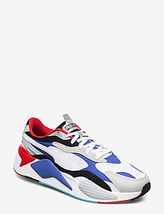 RS-X PUZZLE - chunky sneakers - puma white-dazzling blue-high rise