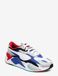 RS-X  PUZZLE Jr - sneakers - puma white-dazzling blue-high rise