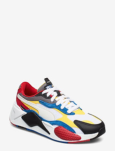 RS-X  PUZZLE Jr - PUMA WHITE-SPECTRA YELLOW-PUMA BLACK