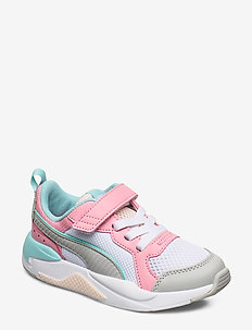 X-Ray AC PS - sneakers - puma white-high rise-peony-gulf stream-rosewater