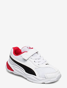 90s Runner Mesh AC PS - PUMA WHITE-PUMA BLACK-HIGH RISK RED