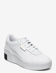 Cali Wedge Wn's - sneakersy niskie - puma white-puma black