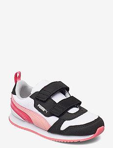 Puma R78 V Inf - low-top sneakers - puma white-apricot blush-puma black