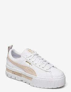 Mayze Lth Wn's - chunky sneakers - puma white-peyote