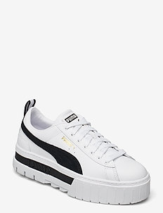 Mayze Lth Wn's - chunky sneakers - puma white-puma black