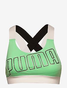 Feel It Bra M - urheiluliivit: medium tuki - green glimmer-puma white