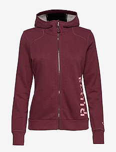 Logo Sweat Jacket - VINEYARD WINE HEATHER