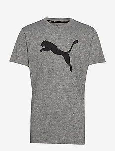 PUMA Heather Cat Tee - t-shirts - medium gray heather