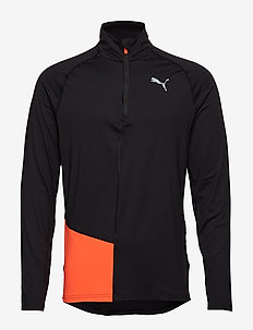 Ignite Halfzip Top - PUMA BLACK-NRGY RED