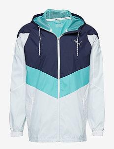 Reactive Wvn jacket - PUMA WHITE-PEACOAT-BLUE TURQUOISE