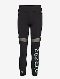 PUMA x SG Tight - running & training tights - puma black- fair aqua