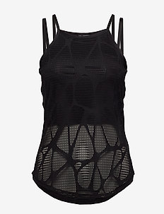 Studio Strappy Lace Tank - PUMA BLACK