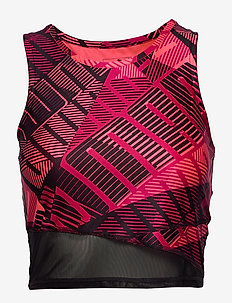 Be Bold AOP Crop - tank tops - bright rose-print