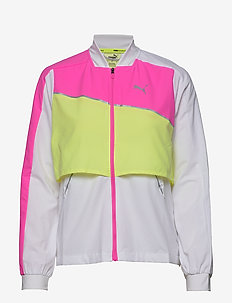 Run Lite Woven Ultra Jacket - kurtki sportowe - puma white-luminous pink-fizzy yell