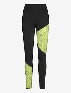 Run Graphic Regular Rise Long Tight - running & training tights - puma black-fizzy yellow