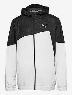 Run Graphic Hooded Jacket - puma white-puma black
