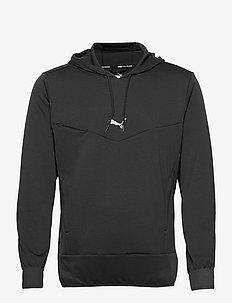 Train Knit Hoodie - basic sweatshirts - puma black