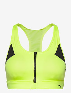 High Impact Front Zip Bra - sport-bh: medium - fizzy yellow