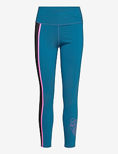 Train Shine High Rise 7/8 Tight - sportleggings - digi-blue